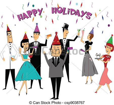 Free Office Holiday Party Clipart.