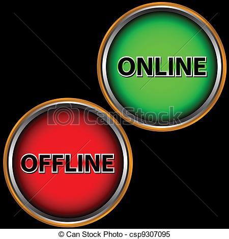 Online offline Vector Clip Art Royalty Free. 315 Online offline.
