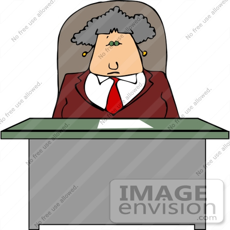 Free Old Woman At Desk Figure Clipart.