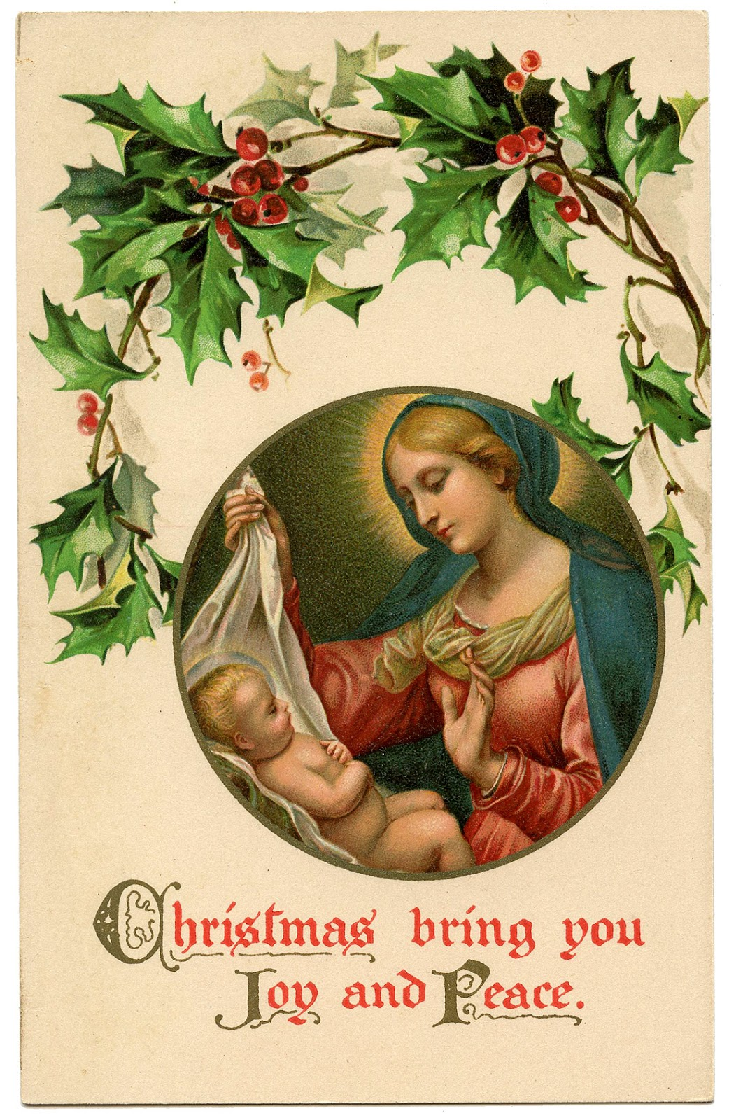 Free Old World Christmas Clipart.
