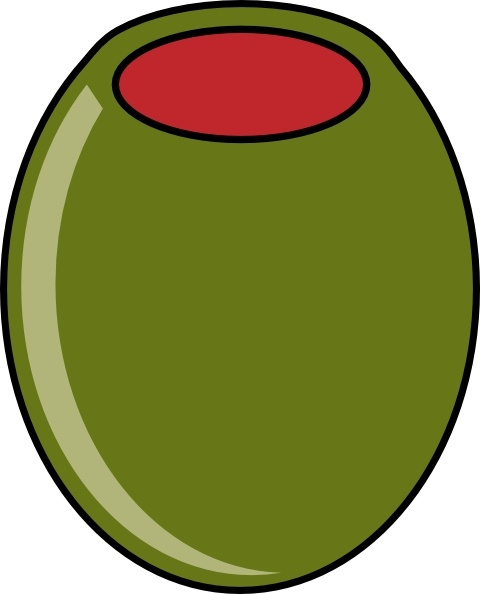 Green Olive clip art Free vector in Open office drawing svg ( .svg.