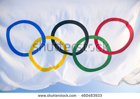 Olympic Rings Stock Images, Royalty.