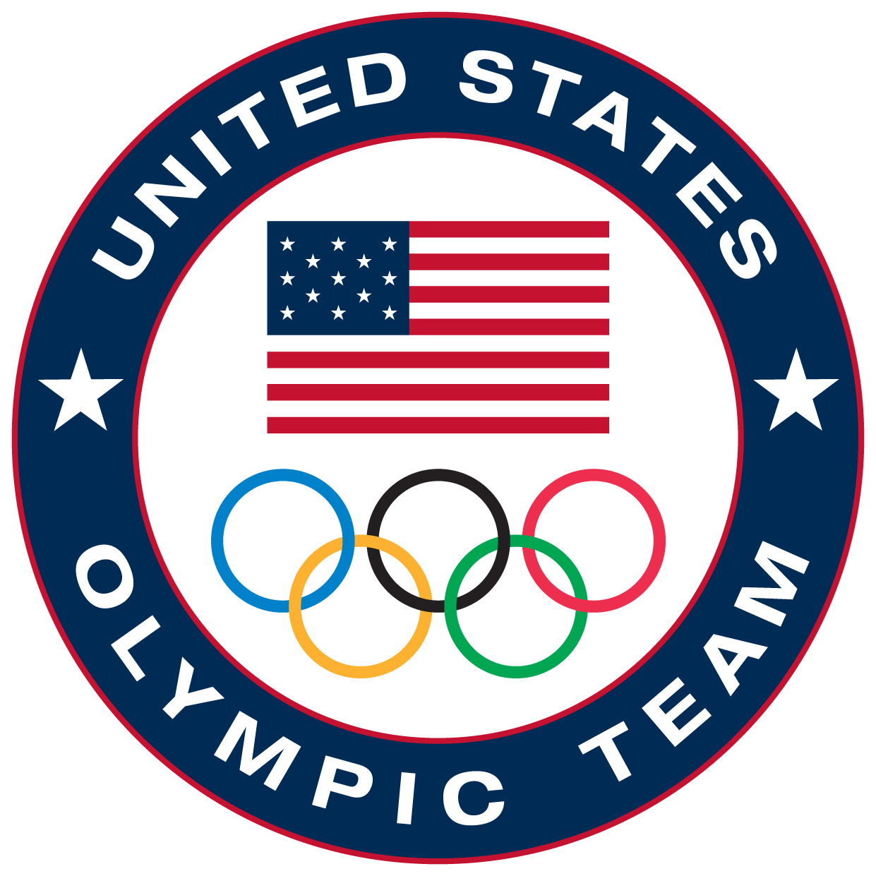 American Olympic Flag Clipart.