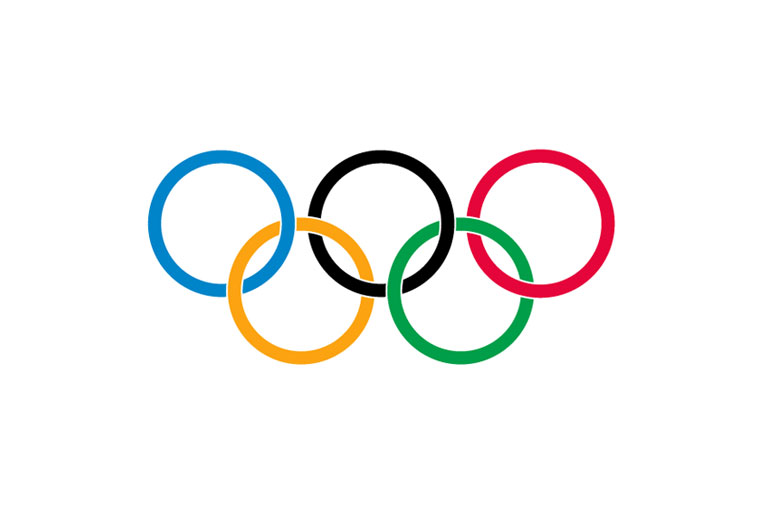 Olympic Flag Clipart.