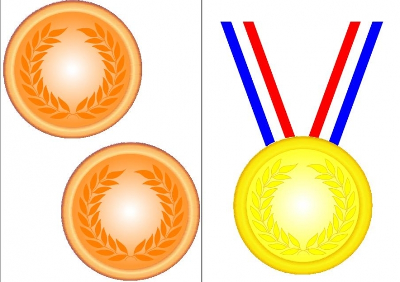 free olympic gold medal clipart #3