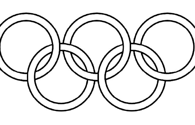 Collection of Olympic rings clipart.