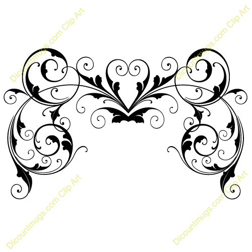Gallery For > Free Wedding Clipart Swirls.