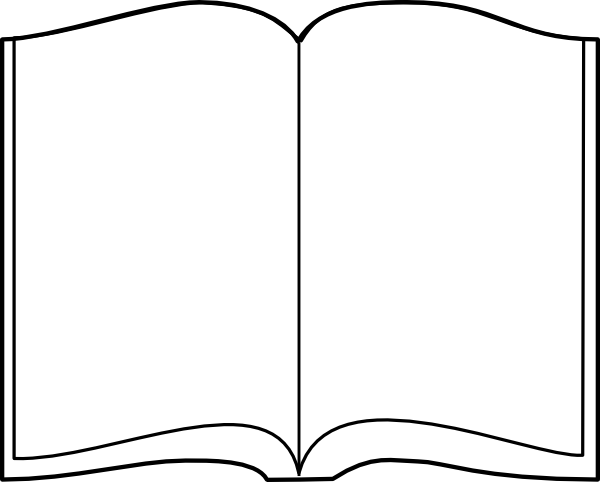 Open Book Outline Clip Art At Clker Com Vector Clip Art.