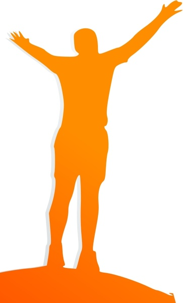 Celebrating Orange Man Free vector in Open office drawing.