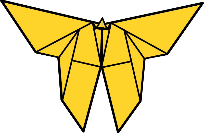 Free Clipart: Origami Butterfly.