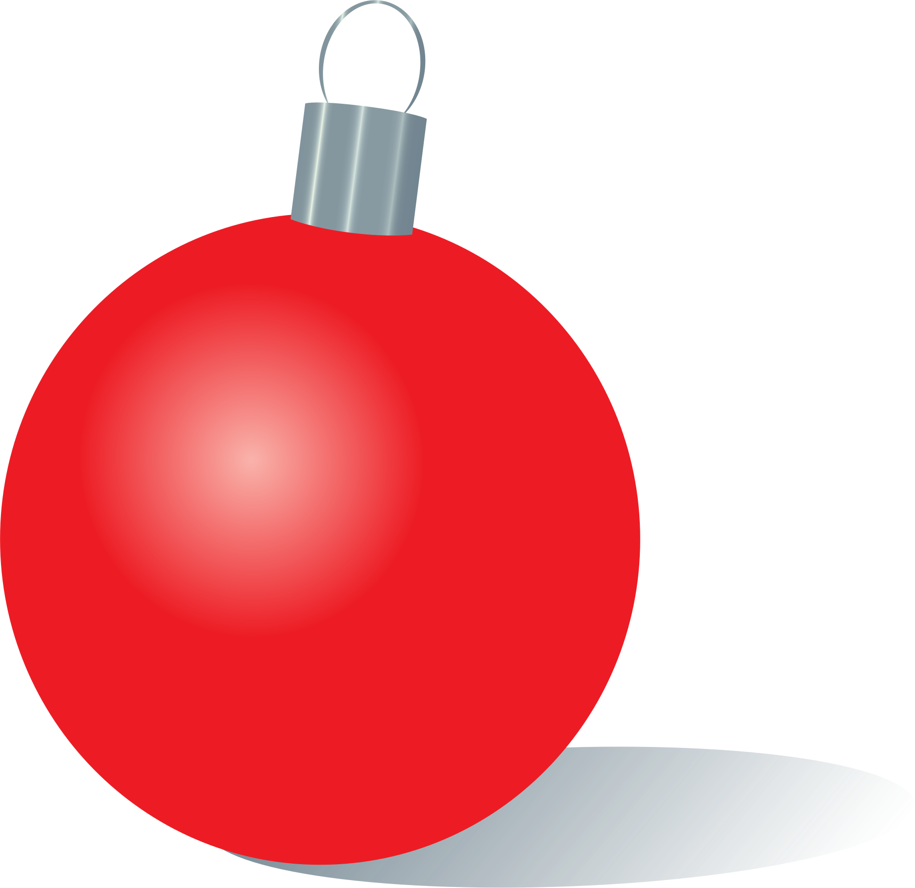 Clip Royalty Free Download Red Christmas Ornaments.