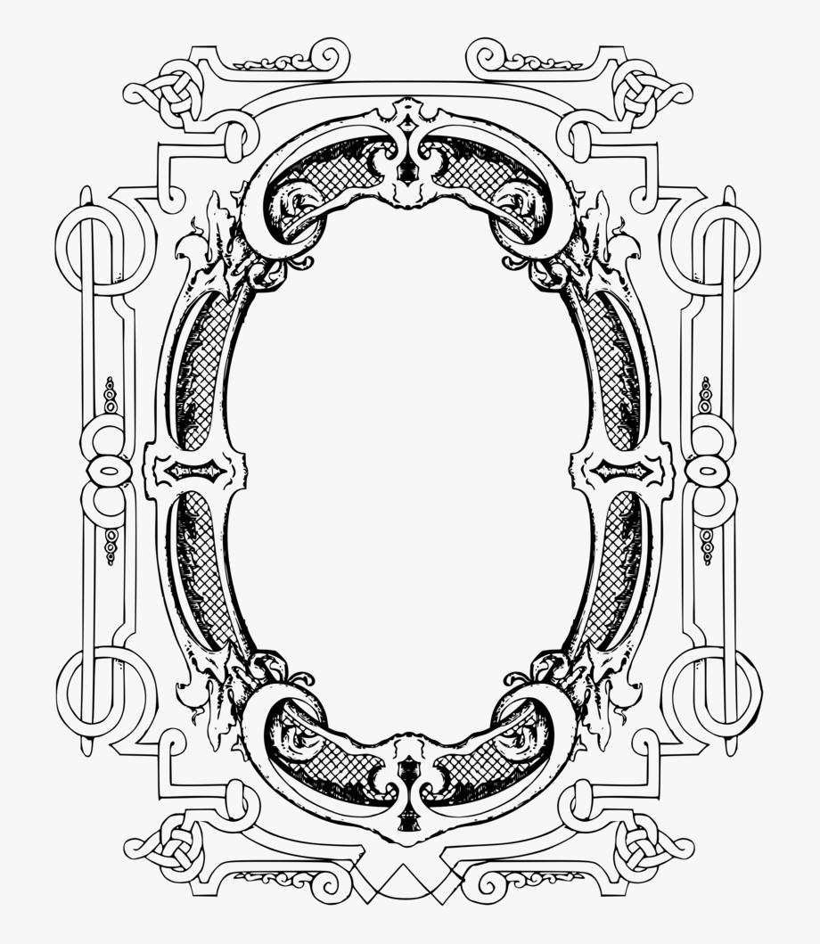 Black Ornate Frame Png Png Clipart Image Etsy Ribbon.