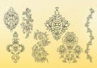 Flower Outline Free Vector Art.