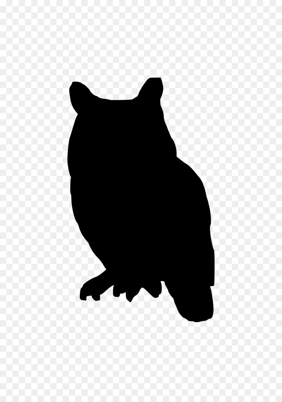 Owl Silhouette Clip Art.