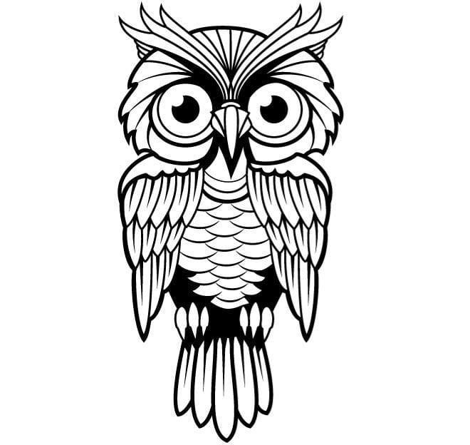 Owl vector clip art image eps, ai file.