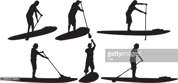 Multiple image of stand up paddle.