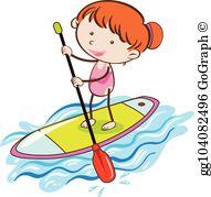 Paddle Board Clip Art.