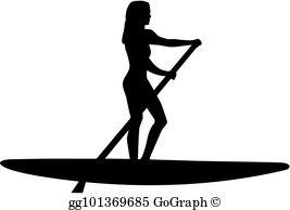 Stand Up Paddle Clip Art.