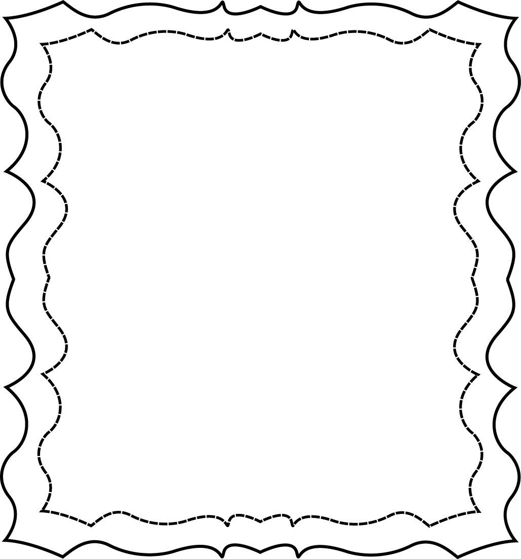 HD Free Black And White Page Borders Clip Art.