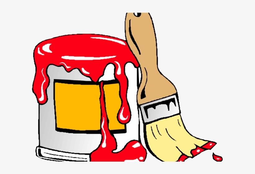 Paint Brush Clipart Paint Can.