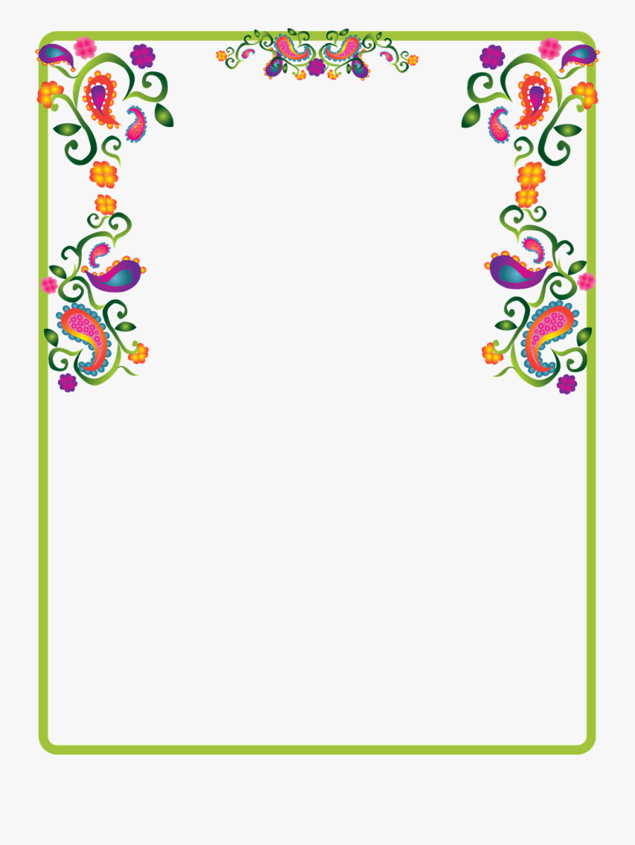 Paisley Decoration Border Free Picture.