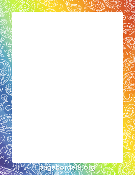 Paisley Border: Clip Art, Page Border, and Vector Graphics.