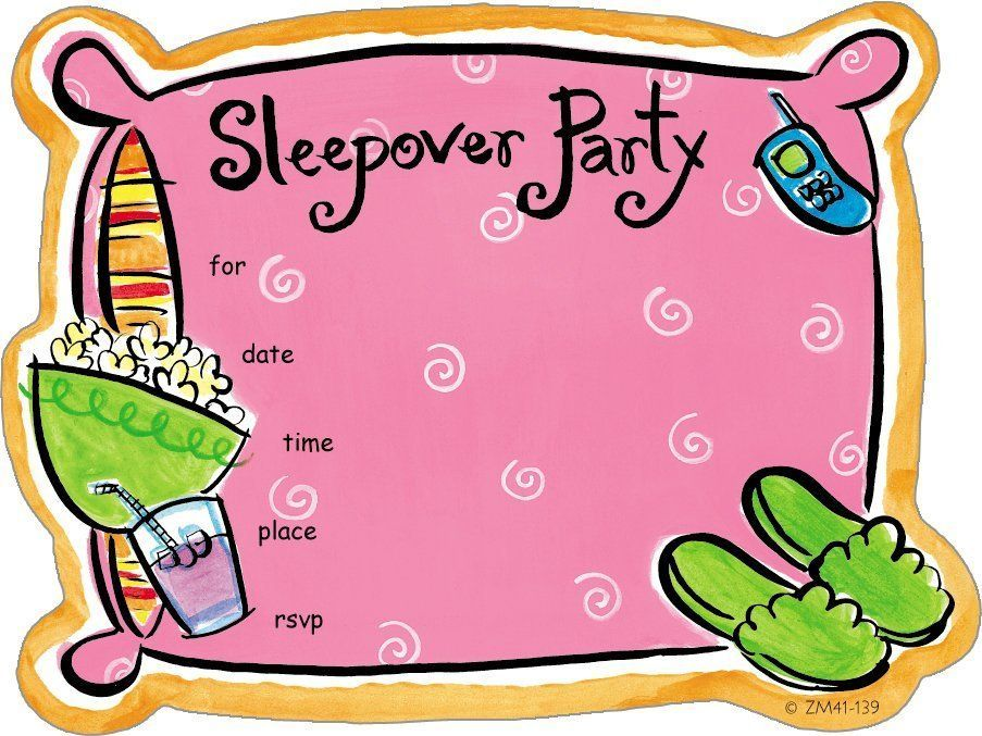 Image result for slumber party free clip art.