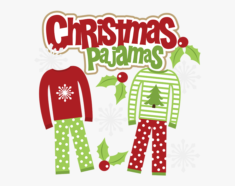 Christmas Pajamas Clipart.
