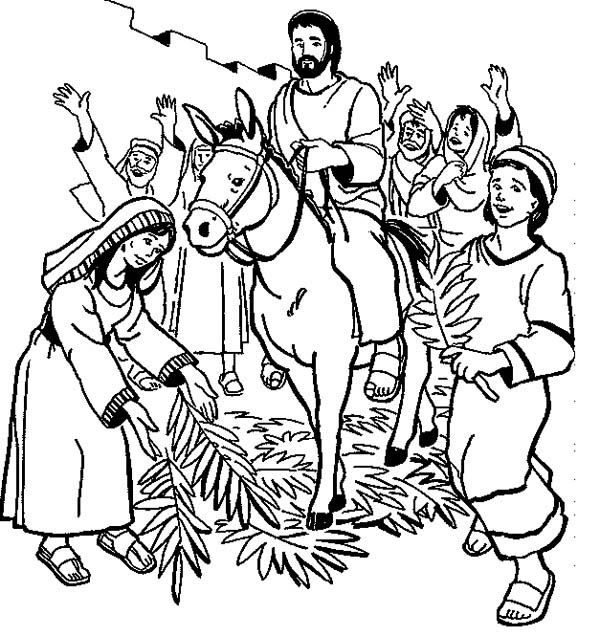 Palm Sunday Clip Art Black And White.