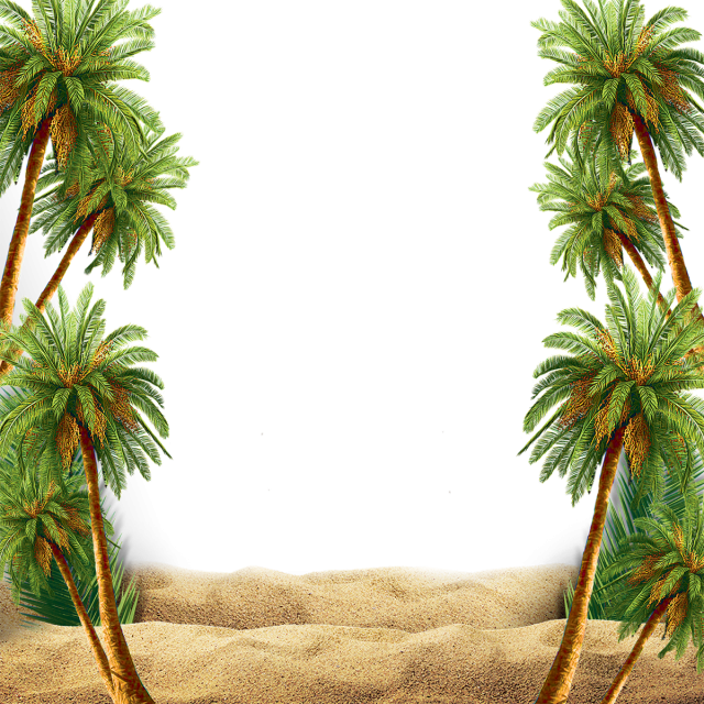 Scene With Palm Tree, Palm, Tree PNG Transparent Clipart.