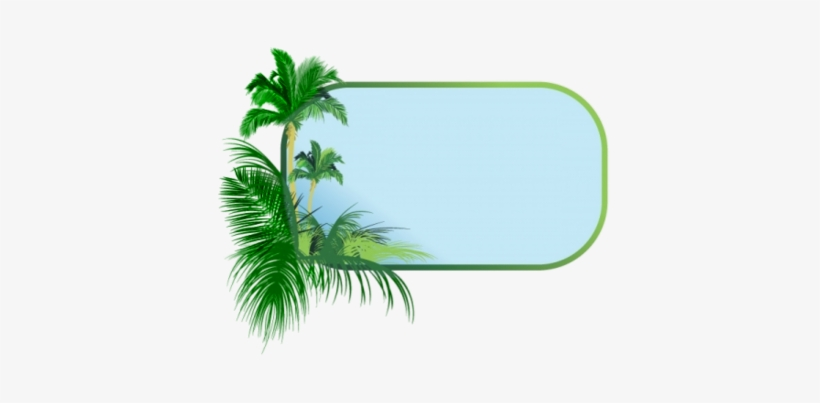Palm Tree Clipart Border.