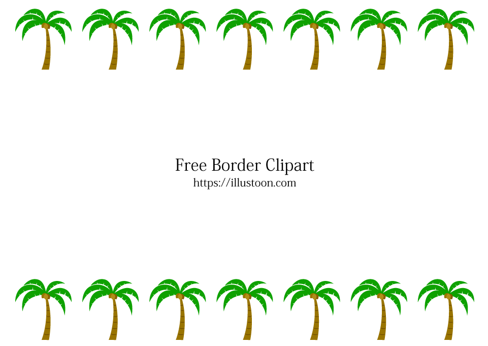 Free Palm Trees Border Image|Illustoon.