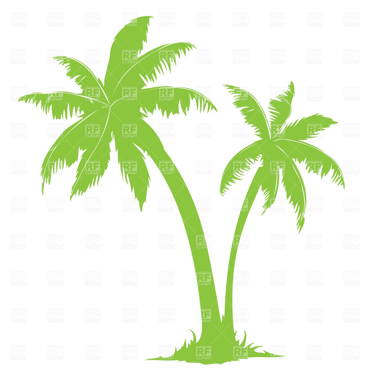 9 Vector Palm Tree Clip Art Images.