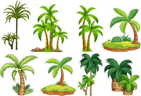 Sea islands palm tree vector Free vector in Encapsulated.
