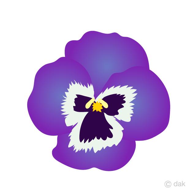 Free Pansy Flower Clipart Image|Illustoon.