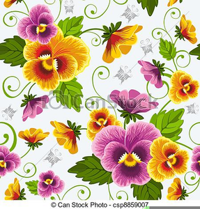 Free Clipart Of Pansies.