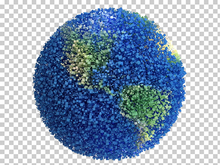 Earth Planet , Blue Earth particle boundaries,Free HD.