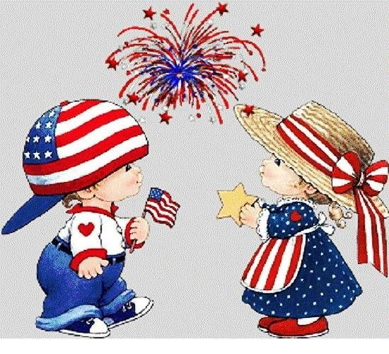 4th of July Clip Art Free Graphics, Pictures, Kids Images, Borders.