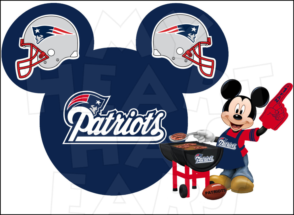 New England Patriots Football Clipart.