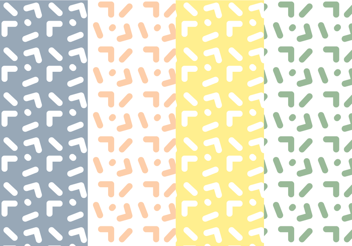 Free Memphis Pattern Vector.