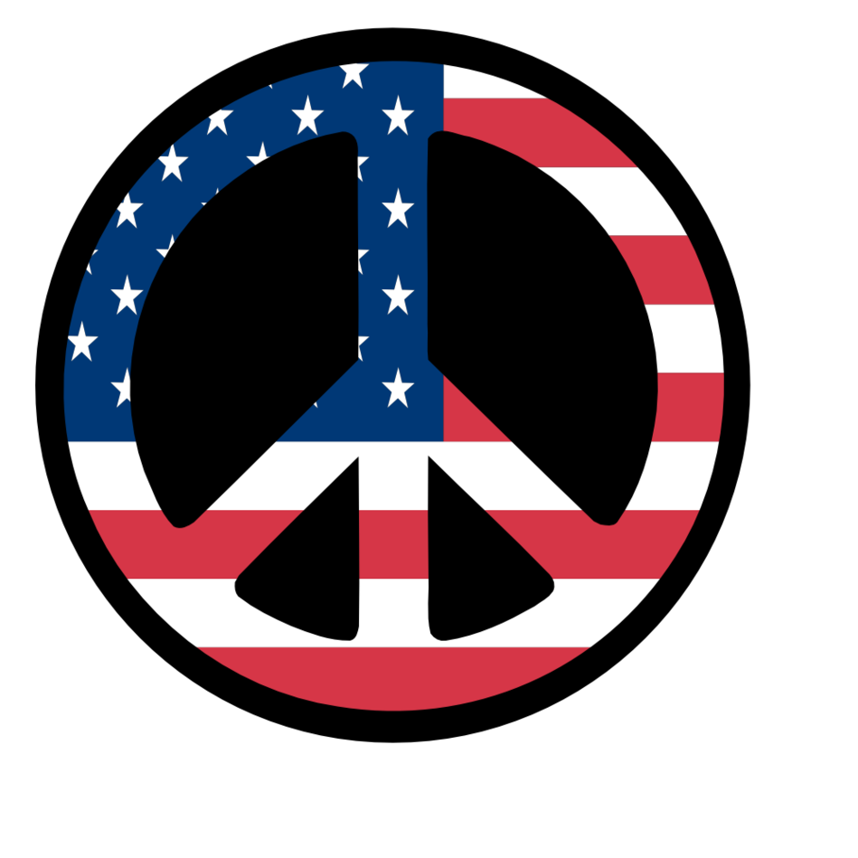 Peace sign border clipart.