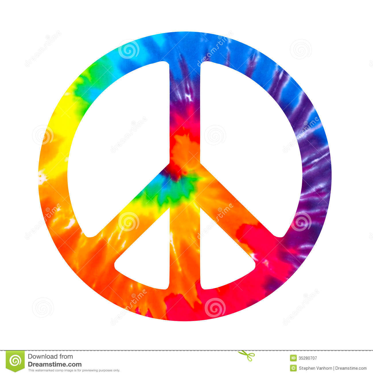Colorful Peace Signs.