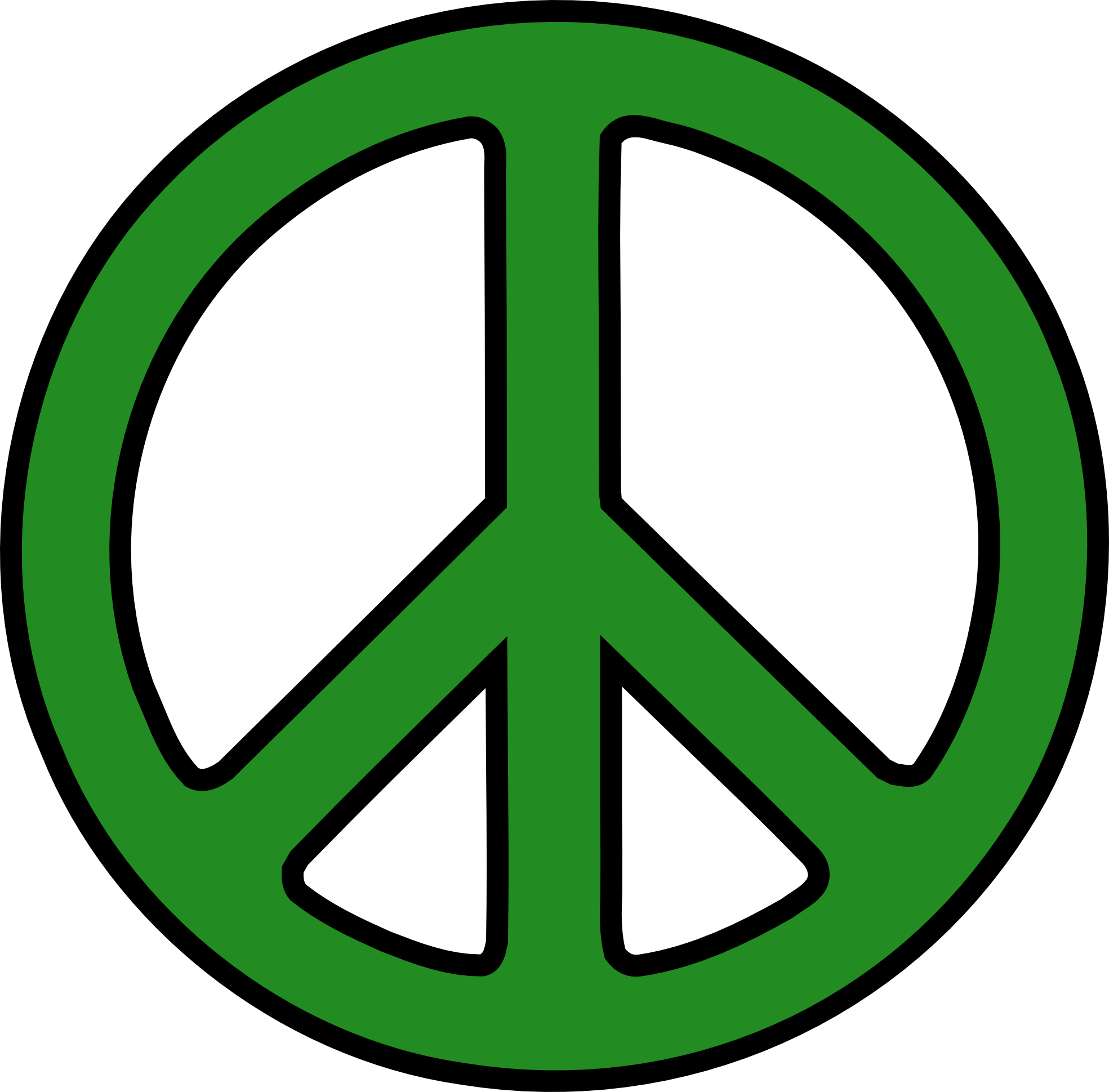 Free peace sign clipart clipartbarn.
