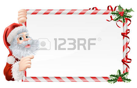 362 Santa Peeking Stock Vector Illustration And Royalty Free Santa.