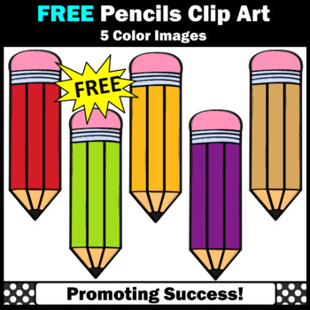 FREE Back to School Pencil Clipart SPS.