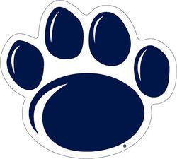 Nittany Lion Paw Prints Clipart.