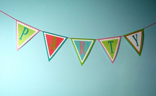Free Pennant Banner Clipart.