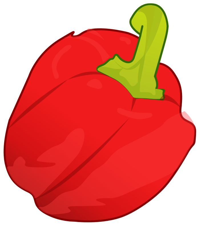 Free Clipart: Red pepper.