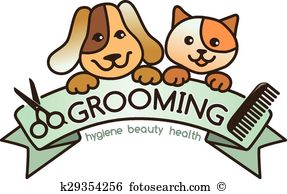Pet Grooming Clipart.
