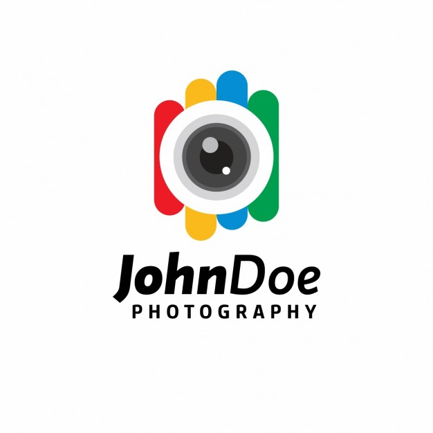 Colorful photography logo template Vector.